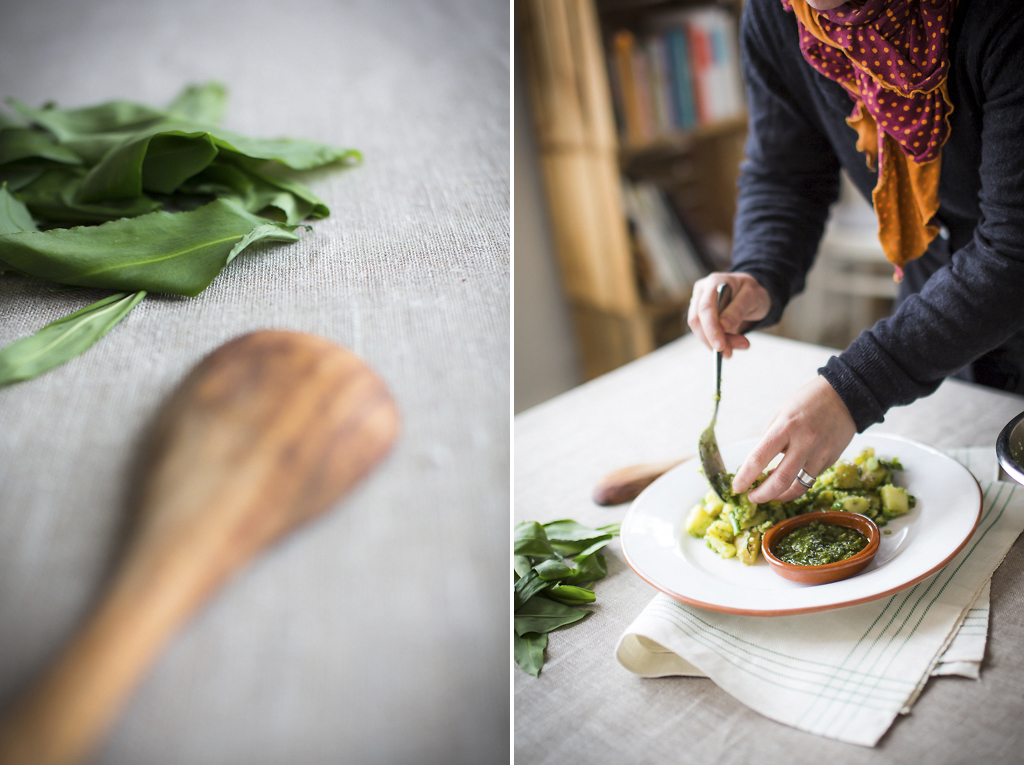 Potatis- och ramslökssallad. Foto: Torbjörn Lagerwall