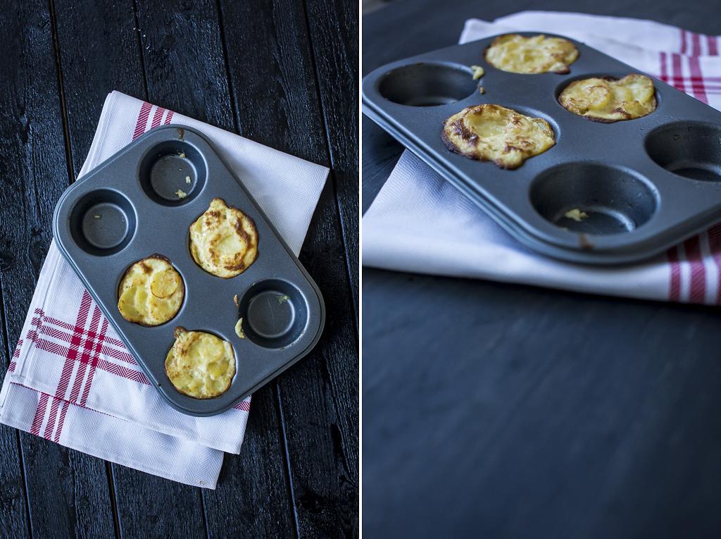 Potatisgratäng i muffinsform. Foto: Torbjörn Lagerwall