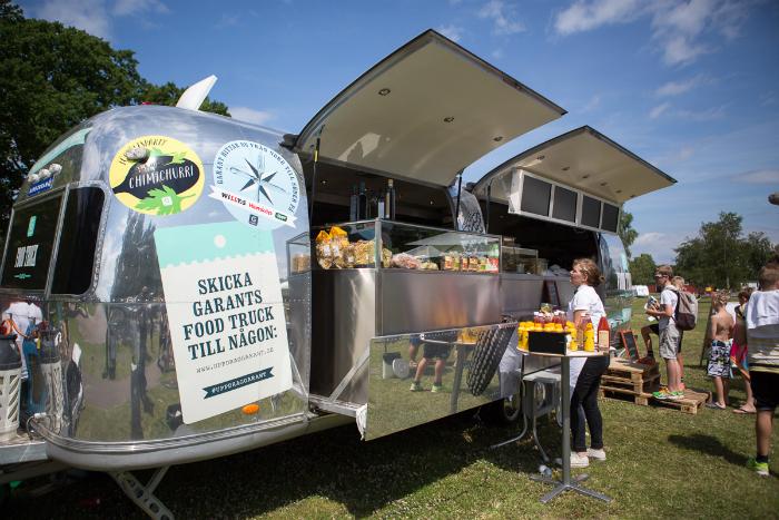 Foodtruck sommar. Foto: Torbjörn Lagerwall