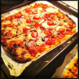 pizza på surdeg