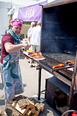 Rökt lax med ramslök. Skånes Matfestival. Foto: Torbjörn Lagerwall