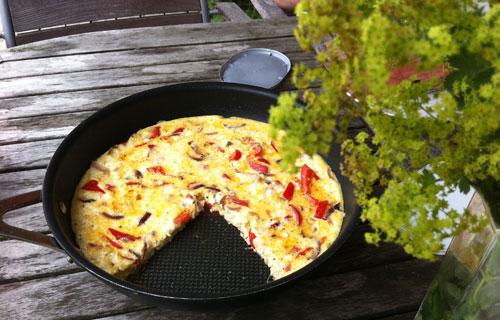 omelett. foto: Torbjörn Lagerwall