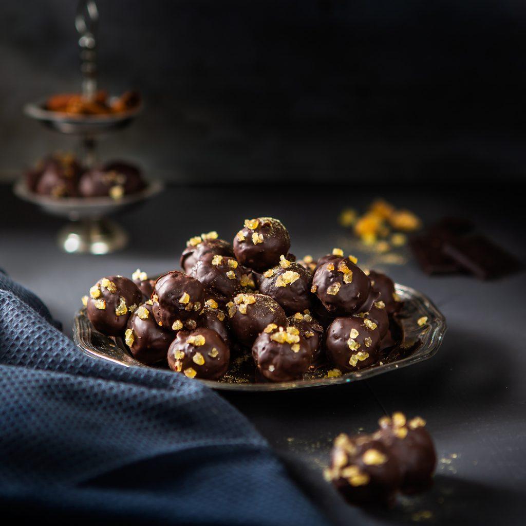 choklad- och ingefärsbollar. Foto: Torbjörn Lagerwall