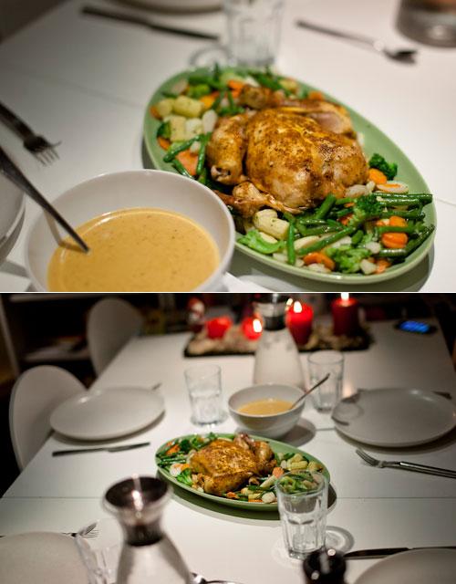 kyckling till middag