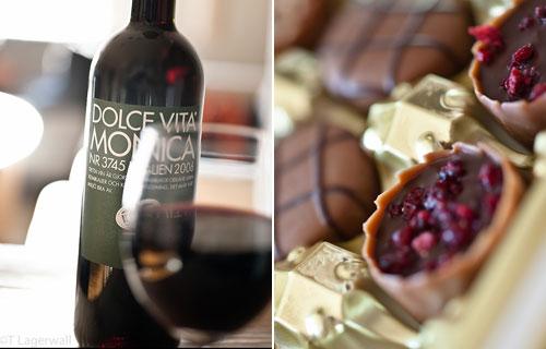 gott vin och choklad