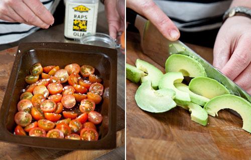 tomat och avokado